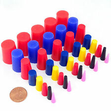 40 Piece High Temp Silicone Powder Coating Plug Kit Cerakote Paint Masking Set