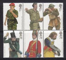 2007 BRITISH ARMY UNIFORMS SET OF 6  UNMOUNTED MINT