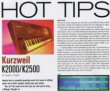 1998 KURZWEIL K2000/K2500 Hot Tips, Electro-Harmonix Q-Tron, Keyboard Magazine