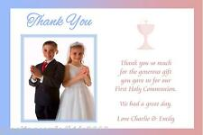 10 Personalised Communion Boy Girl Twins Photo Thank You Cards