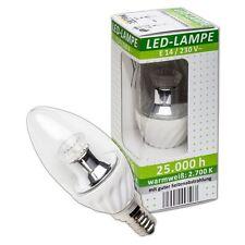LED Leuchtmittel Lampe Kerzenlampe Birne Kerze E14, 3,5 Watt Klar Warm-Weiß L63