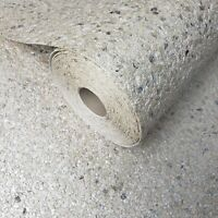 Modern Pearl Cream Big Chip Natural Real Mica Stone Wallpaper Plain Textured