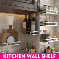 20-35cm Kitchen Wall Shelf Rack Organizer Iron Storage Holder Basket Spice Rack