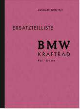 BMW R 35 Ersatzteilliste Ersatzteilkatalog Teilekatalog R35 Spare Parts List