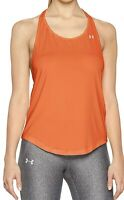 Under Armour HeatGear Armour Mesh Back Womens Size Large Neon Coral