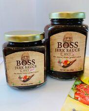 Boss Jamaican Jerk Sauce, Spicy hot, 12oz