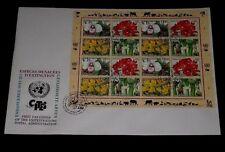 U.N. 1996, GENEVA #283a, ENDANGERED SPECIES, SHEET/16 ON LARGE FDC,NICE! LQQK!