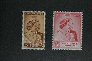Trinidad and Tobago #64-5 1949 VF MNH silver wedding 2020 cv$32.75 (v395)