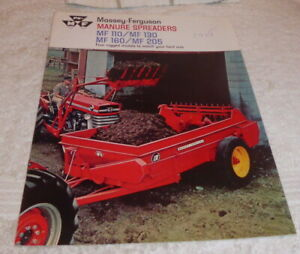 Classic brochure for Massey-Ferguson Manure Spreaders dated 1968