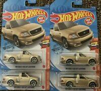 99 Ford F-150 SVT Lightning Lot Of 4 Gold 1/10 Hot Trucks 2020 Hot Wheels Case P