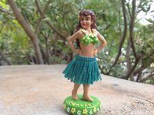 "Dashboard Aloha Doll Hula Girl Hawaii Polyresin 4"" Tall Hawaiian Car Dance New"