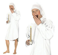 Mens White Night Shirt Fancy Dress Costume Scrooge Christmas Carole Outfit