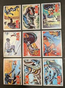 1966 Topps Batman Red Bat Puzzle A Series Complete Set 44 Trading Cards BB282