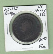 1832 Nova Scotia One Penny Token - Br870 - Fine