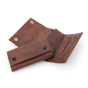 Fashion Artificial Leather Tobacco Bag Brown Color Portable Storage Pouch