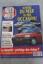 AUTO MOTO N°105 JUIN 1991 - CLAUDE BRASSEUR XM SEAT TOLEDO HONDA LEGEND CLIO