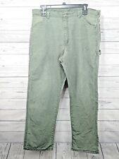 Bulwark Flame Resistant Carpenter Jeans Green Mens Sz 40x32 (n)