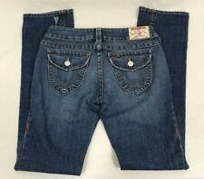 True Religion Billy Bootcut Size 28 32x34 Low Rise Medium Wash Blue Flap Pockets