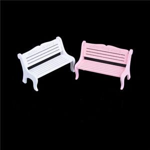 13*8cm Wooden Bench Chair 1:12 Dollhouse Miniature Furniture Garden DecorB`