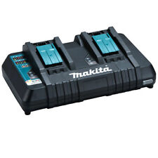 Genuine Makita 18V Cordless Battery Dual Rapid Charger With USB Port - DC18RD