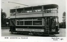 Pamlin repro photo postcard M3128 4 wheel Leicester Corporation Tram Car