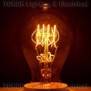 """Vintage """"Edison Look"""" CLASSIC BULB A19 Victorian Quad Loop Filament Lamp Light"""