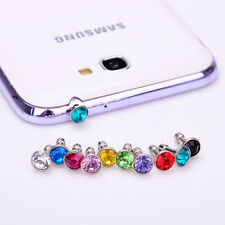 10X Multi Crystal Earphone Anti Dust Cap Jack Plug Stopper Mobile Phones Decor