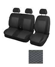Funda Protectora para Asientos de Furgoneta Camioneta Van de 2 + 1 Negro y gris