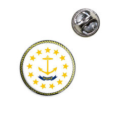 Rhode Island State Flag Lapel Hat Tie Pin Tack