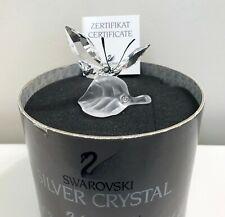 New ListingSwarovski Silver Crystal Butterfly On A Leaf w/Box and Coa