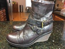Women TILTOA Vera Pelle Boot BROWN Leather Wedge   Size 37