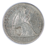 1843 Seated Liberty Dollar Very Fine