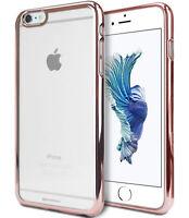 iPhone 6 Plus 6s Plus Genuine MERCURY Goospery Rose Gold Ring Jelly Case Cover