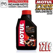 12 LITRI LT OLIO MOTORE MOTO MOTUL 7100 4T 20W50 100% SINTETICO ESTER MA2
