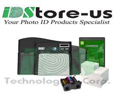 FARGO DTC4250e Dual Side Photo ID Card Printer Bundle