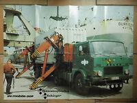 altes Reklame PLAKAT IFA mobile Spezialaufbauten Anhänger DDR von 1979 ( 9995
