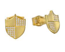 2.05ct Natural Round Diamond 14k Solid Yellow Gold Mens Cufflinks
