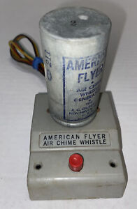 Vintage American Flyer #708 AIR CHIME WHISTLE GENERATOR GRAY Free Shipping