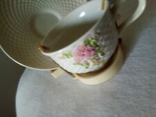 Cream Colored Teleflora Cup And Saucer