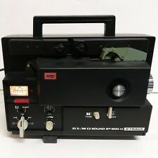 Elmo St-600 2-Track Super 8 / 8mm Sound Movie Projector w/ Accessories