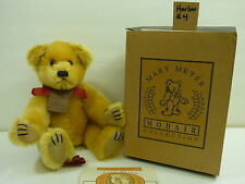 Mary Meyers MOHAIR COLLECTION fully jointed bear with box golden brown Harlow #4