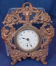 Antique Brass Decorative Clock Cherubs Cupid Decorative New Haven