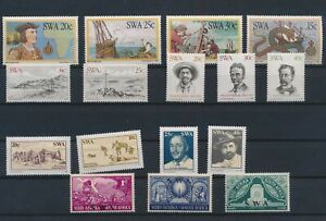 LN89343 South West Africa mixed thematics nice lot of good stamps MNH