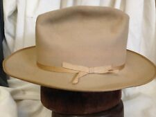 Stetson Twenty Five Cattleman Tan Cowboy Wide Brim Mens Fedora Hat - Size 7