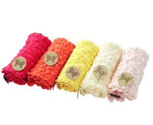 Fluffy Soft Waffle Face Towel Set 5colors 5pcs Pink Color Series Cute