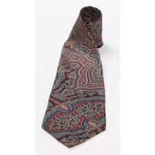 ANDHURST Mens Silk Abstract Regular Tie Necktie Multi-Color Blue