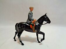 Vintage Britains Fox Hunt Hunting Country Gentleman Riding Black Horse Lead Toy