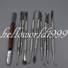 10 X Stainless Steel Dental Plaster Wax Carving Clay Tool Kit Carver Instrument