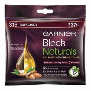 Garnier Black Naturals Shade Natural Burgundy 3.16,No Ammonia 20 ml+20 g 10piece
