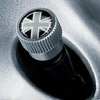 NEW OEM MINI Cooper Black Jack Union Jack  Valve Stem Covers 36112211236